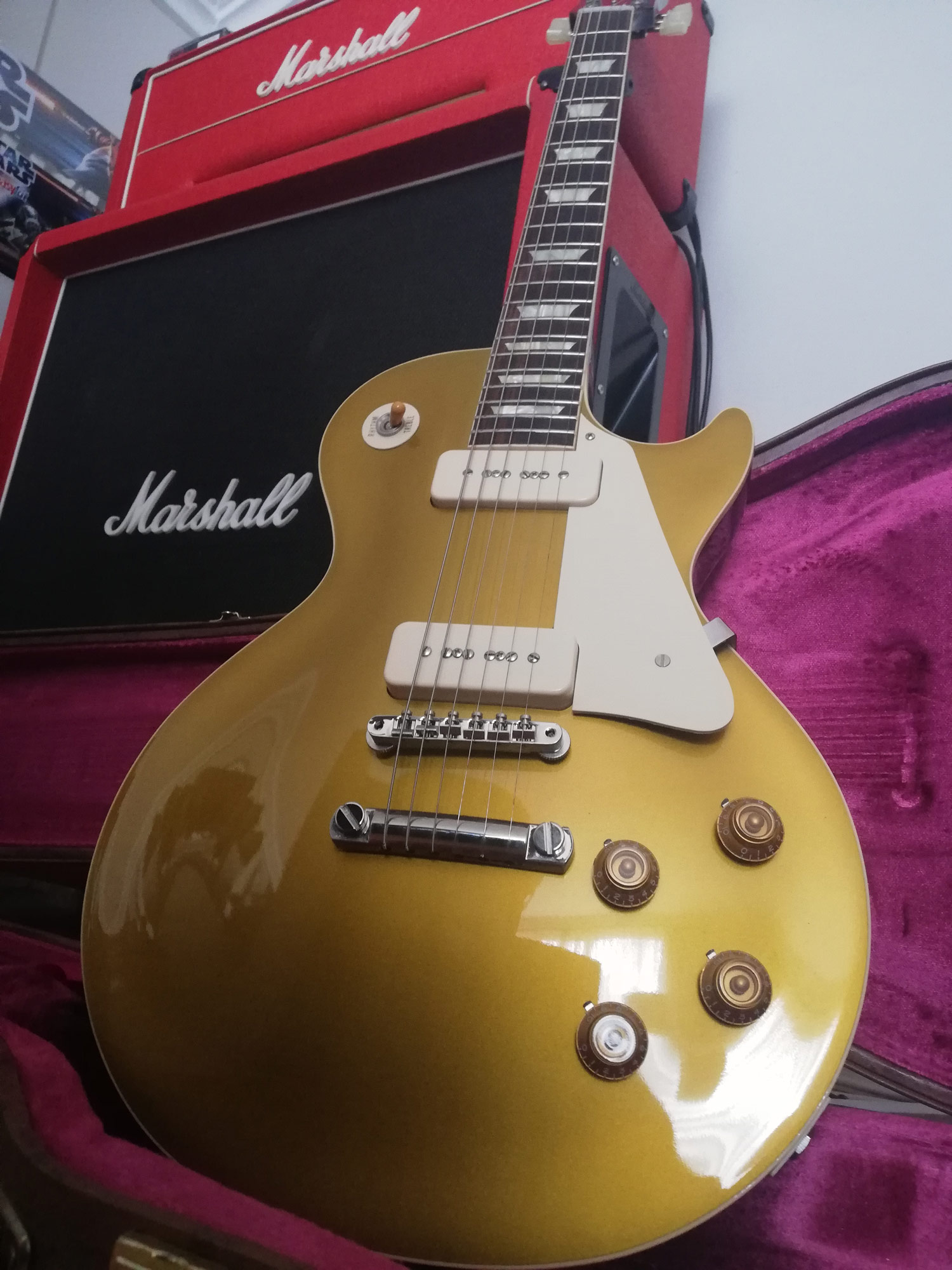 Gibson les Paul 1956 goldtop reissue darkback